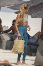 SHAYNA TAYLOR Out at a Beach in Tulum 01/20/2021