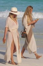 SHAYNA TAYLOR Out with a Friend at a Beach in Tulum 01/24/2021