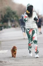 SINITTA Out with Her Dog in London 01/21/2021