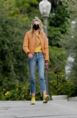 STELLA MAXWELL Out with Her Dog in Los Angeles 01/16/2021