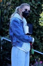 STELLA MAXWELL Out with Her Dog in Los Angeles 01/30/2021
