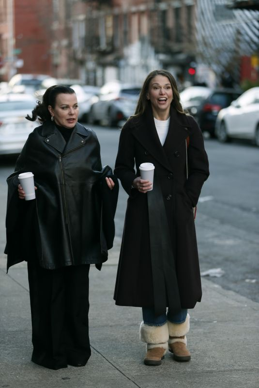 SUTTON FOSTER and DEBI MAZAR on the Set of Younger in New York 01/07/2021