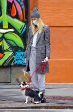 TAYLOR NEISEN Out with Her Dog in New York 01/15/2021