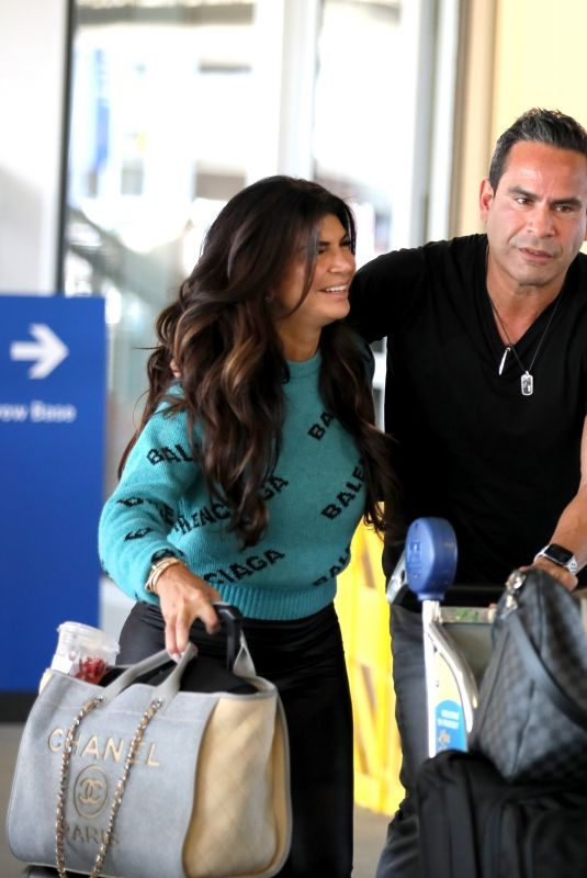 TERESA GIUDICE at LAX Airport in Los Angeles 01/20/2021
