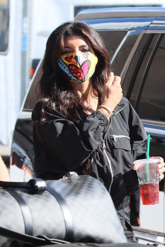 TERESA GIUDICE at LAX Airport in Los Angeles 01/24/2021