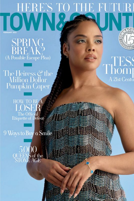 TESSA THOMPSON in Town & Country Magazine, February 2021