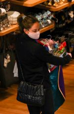 VANESSA MINNILLO Shopping at Disney Store in Los Angeles 01/29/2021