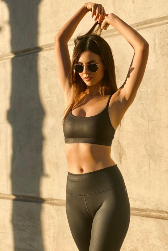 VICTORIA JUSTICE for Fabletics, January 2021