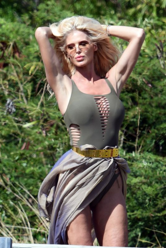 VICTORIA SILVSTEDT at a Photoshoot in St Barts 01/05/2021