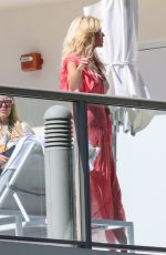 VICTORIA SILVSTEDT at a Photoshoot on Her Hotel Balcony in Miami 01/26/2021