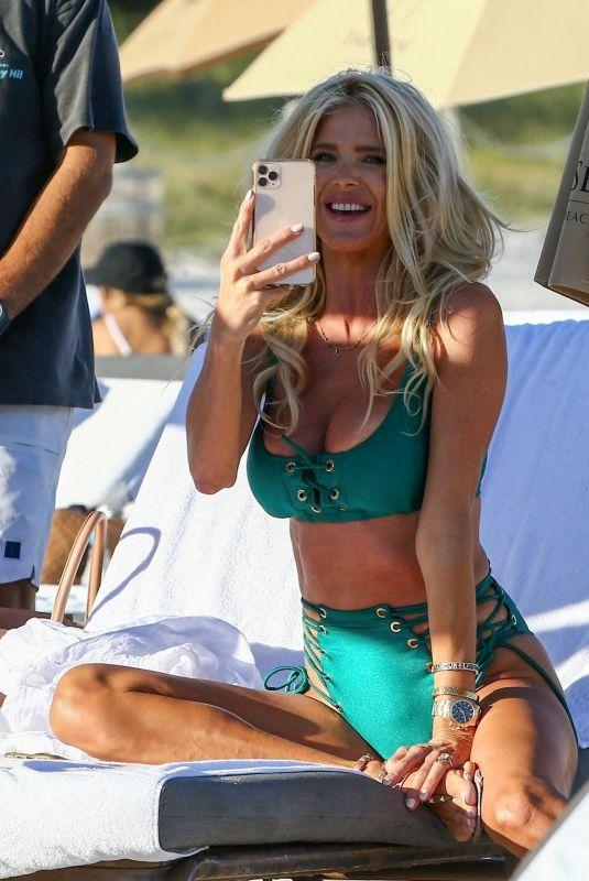 VICTORIA SILVSTEDT in Bikini at a Beach in Miami 01/23/2021
