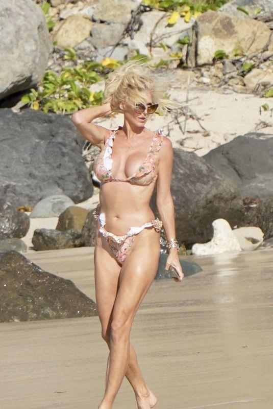 VICTORIA SILVSTEDT in Bikini at a Beach in St.Barths 12/29/2021