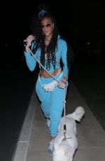 WINNIE HARLOW Out with Her Dog in Malibu 01/19/2021
