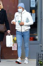 YOLANDA HADID Out and About in New York 01/04/2021
