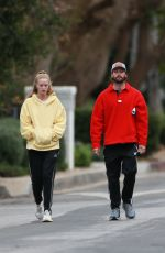 ABBY CHAMPION and Patrick Schwarzenegger Out in Santa Monica 01/31/2021