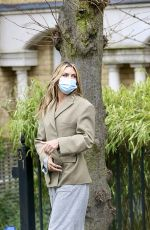 ABIGAIL ABBEY CLANCY on the Set of a Television Advert in London 02/10/2021