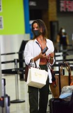 ALESSANDRA AMBROSIO Arrives at Airport in Sao Paulo 02/19/2021