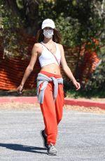 ALESSANDRA AMBROSIO Out Hiking in Santa Monica 2/24/2021