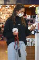 ALESSANDRA AMBROSIO Out Shopping at Brentwood Beauty Center and Bristol Farms 02/22/2021