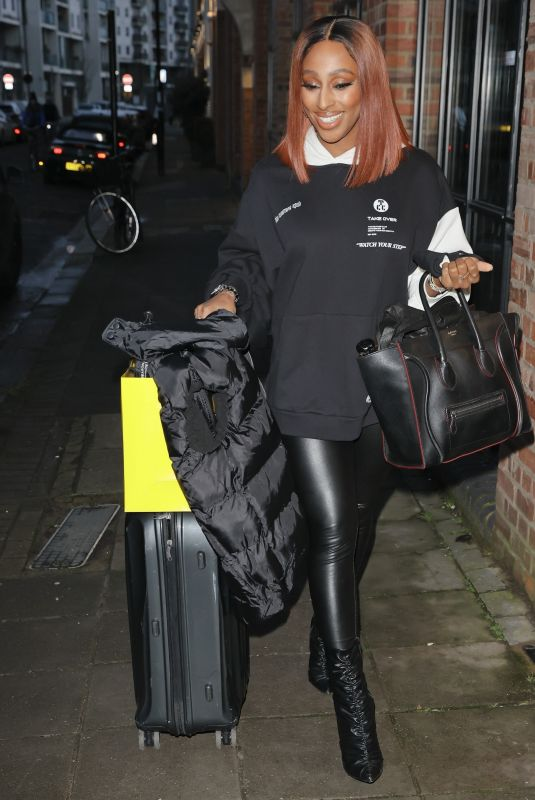 ALEXANDRA BURKE Leaves New ITV Show Food We Love in London 02/02/2021