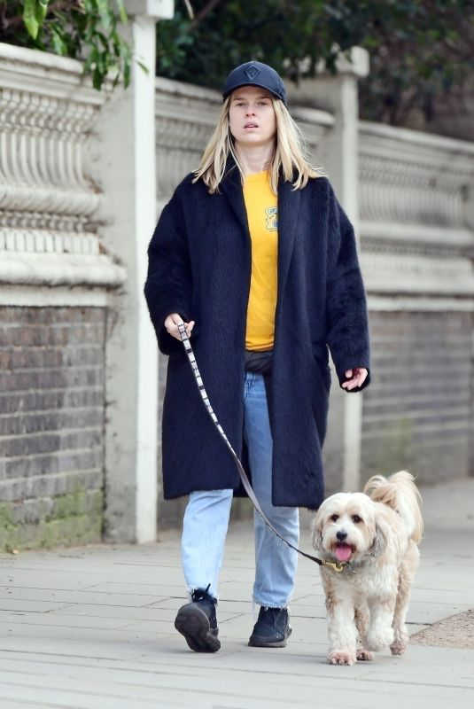 ALICE EVE Out with Her Dog Out in London 02/25/2021