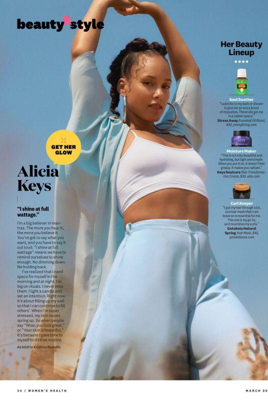 ALICIA KEYS in Women's Health Magazine, March 2021