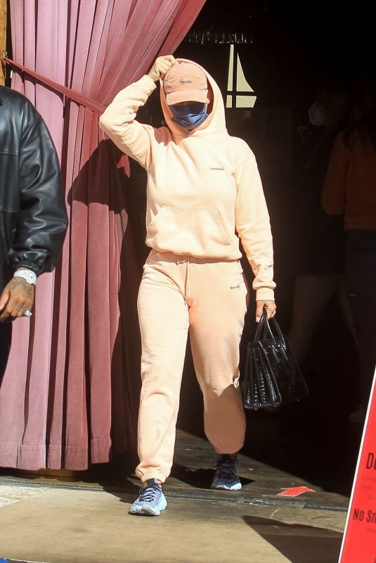 AMBER ROSE and Alexander Edwards at Saddle Ranch in West Hollywood 02/27/2021