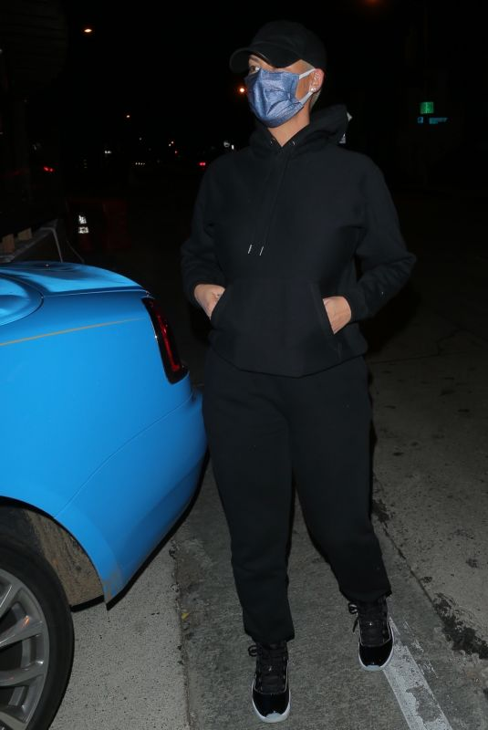 AMBER ROSE Leaves Craig's in West Hollywood 02/02/2021