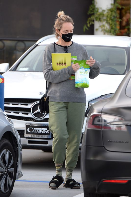 AMBER VALLETTA Out Shopping in Los Angeles 02/15/2021