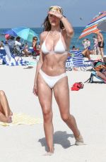 AMELIA HAMLIN in a White Bikini on Valentine
