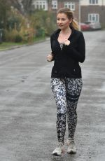 AMY HART Out Jogging in Worthing 02/09/2021
