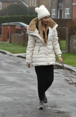 AMY HART Out with Her Dog in Worthing 02/21/2021