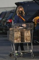 AMY POEHLER Shopping at Bristol Farms in Beverly Hills 02/11/2021