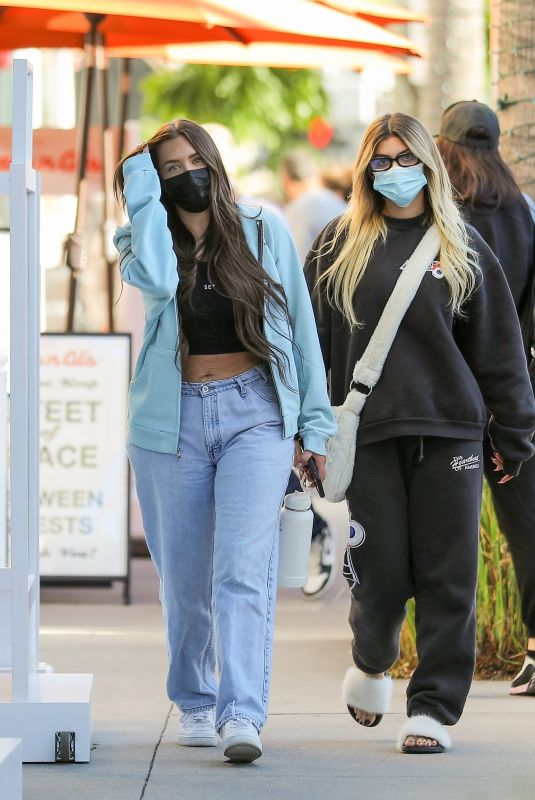 ANASTASIA KARANIKOLAOU and KELSEY CALEMINE at Croft Alley in Beverly Hills 02/18/2021