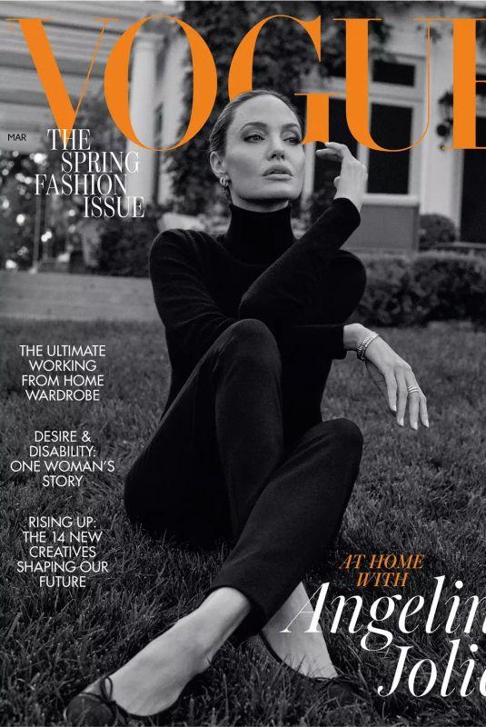 ANGELINA JOLIE for Vogue Magazine, UK March 2021