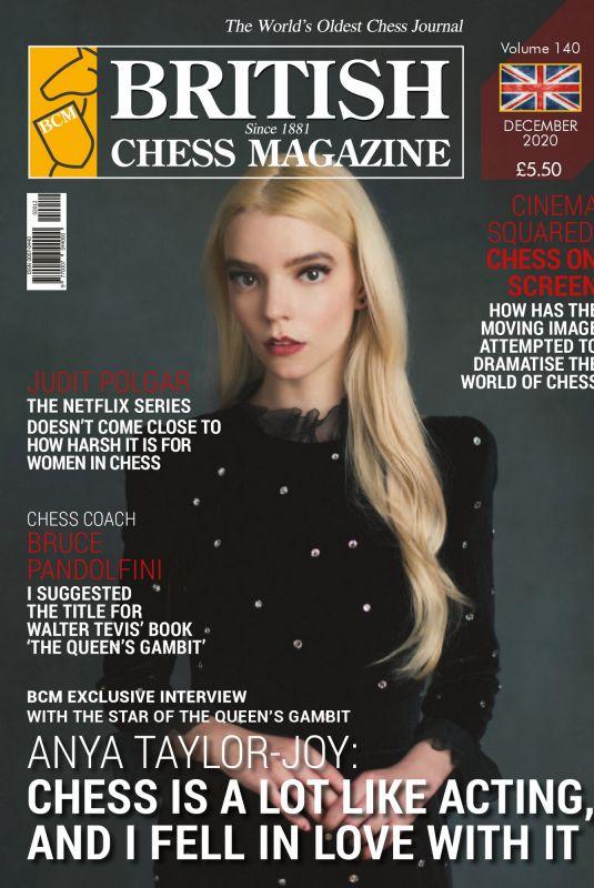 ANYA TAYLOR-JOY in British Chess Magazine, December 2020