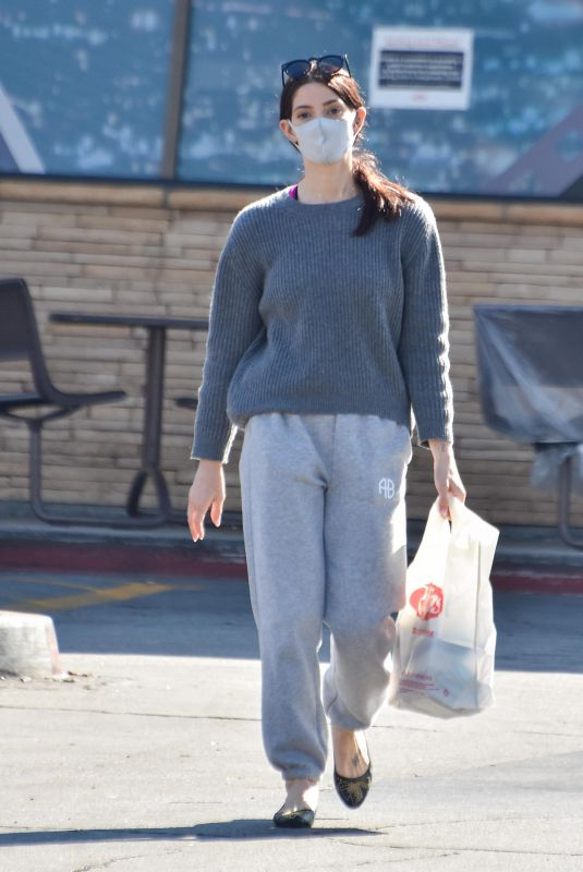 ASHLEY GREENE Wearing a Face Mask Out in Los Angeles 02/08/2021