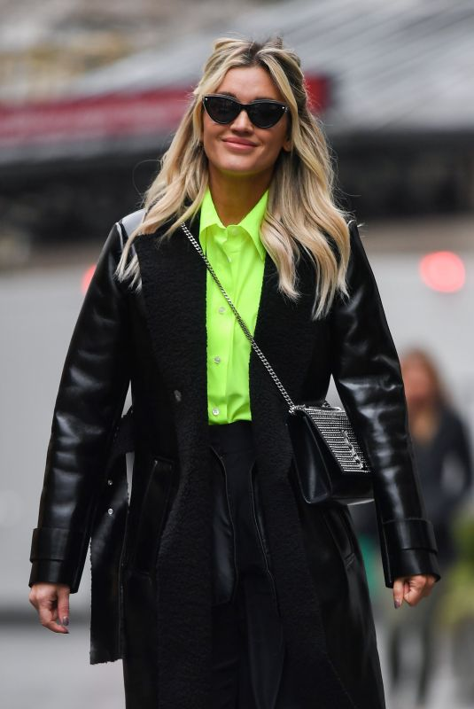 ASHLEY ROBERTS Arrives at Global Radio in London 02/17/2021