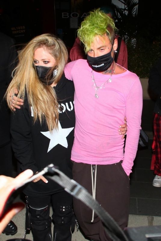 AVRIL LAVIGNE and Mod Sun at BOA Steakhouse in West Hollywood 02/27/2021