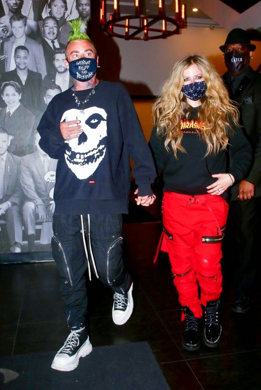 AVRIL LAVIGNE and Mod Sun at Catch LA in West Hollywood 02/19/2021