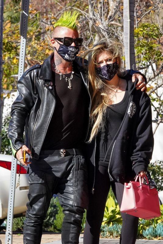 AVRIL LAVIGNE and Mod Sun Leaves Soho House in Malibu 02/18/2021