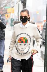 BELLA HADID Heading to a Photoshoot in New York 02/27/2021