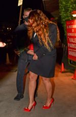 BEYONCE Out for Dinner on Valentine