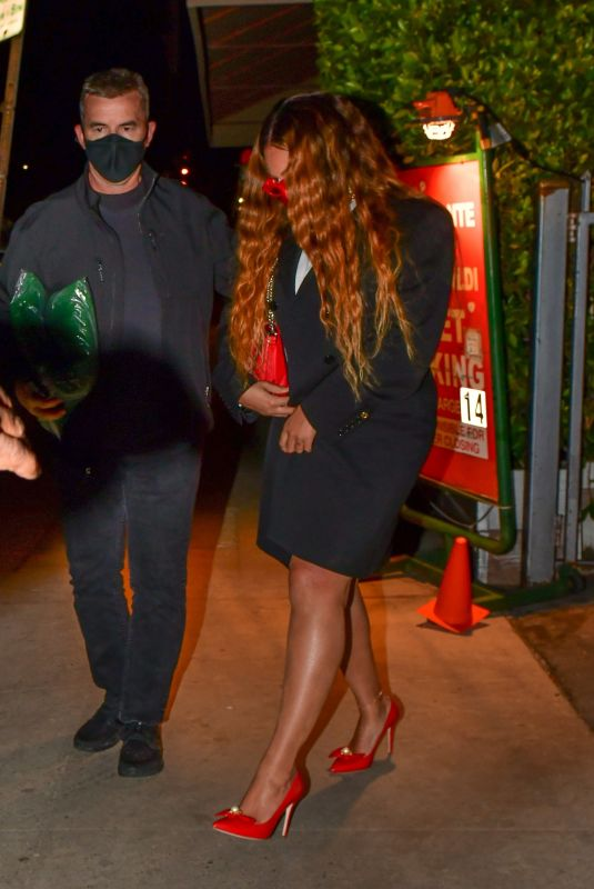 BEYONCE Out for Dinner on Valentine's Day in Santa Monica 02/14/2021