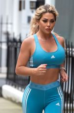 BIANCA GASCOIGNE in Tights Out Jogging in London 02/24/2021