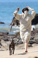 BILLIE EILISH Out with her Dog at a Beach in Malibu 02/21/2021