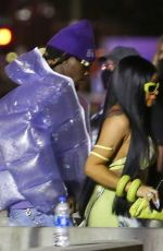 CARDI B and Offset Arrives at Super Bowl LV in Tampa 02/07/2021