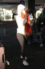 CARDI B Arrives at LAX Airport in Los Angeles 02/06/2021