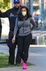 CARDI B Shopping at Couture Kids in West Hollywood 02/12/2021