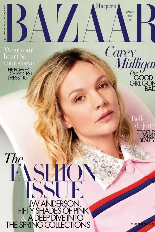 CAREY MULLIGAN in Harper's Bazaar Magazine, UK March 2021